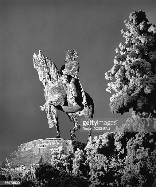Statue of Napoleon in Laffrey, 1957 in Laffrey, France.