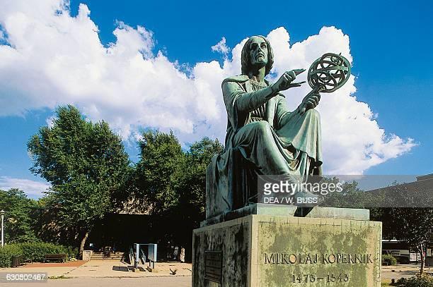 Statue of Nicholas Copernicus in front of the Montreal Planetarium Montreal Quebec Canada