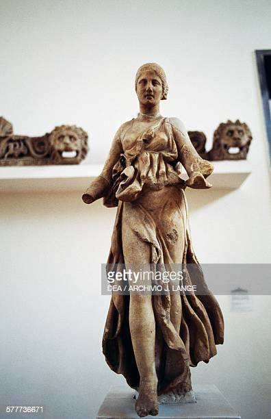 Statue of Nike from the east pediment of the Temple of Artemis in the Sanctuary of Asclepius in Epidaurus Greece Greek civilisation 4th century BC...