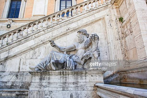 Statue of Nilo, Capitol Square, porch of the Palace of the Senate, City Hall, Rome, Lazio, Italy