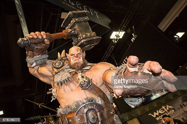 Statue of Orgrim Doomhammer from the video game World of Warcraft at Comic-Con Preview Night on July 20, 2016 in San Diego, California.