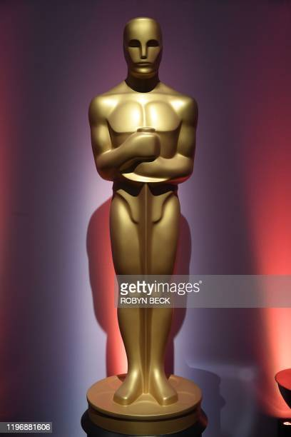 Statue of Oscar is seen during the 2020 Oscars Nominees Luncheon at the Dolby theatre in Hollywood on January 27, 2020.
