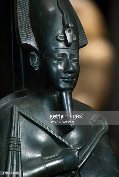 Statue of Osiris from the tomb of Psammetik Saqqara Necroplis Egypt Egyptian civilisation Saite Period Dynasty XXVI Detail Cairo Egyptian Museum