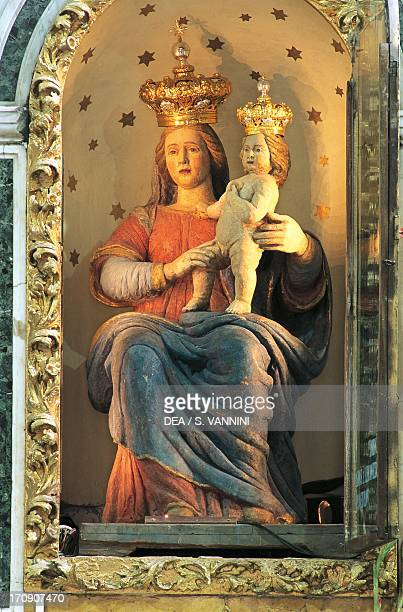 Statue of Our Lady of the Mountain Sanctuary of Our Lady of Polsi San Luca Calabria Italy
