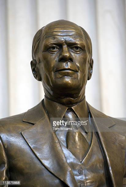 May 3: A statue of President Gerald Ford resides in the rotunda of the Capitol after it was unveiled in a ceremony.