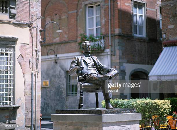 Statue of Puccini, Lucca, Tuscany, Italy