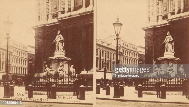 Statue of Queen Anne, St. Paul's, London, 1850s-1910s. Artist Unknown.