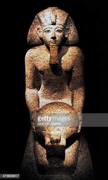 Statue of Queen Hatshepsut depicted as a male and a pharaoh Egyptian civilisation New Kingdom Dynasty XVIII