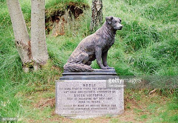 Statue Of Queen Victoria's Collie Dog Called Noble. It Is In The Grounds At Balmoral