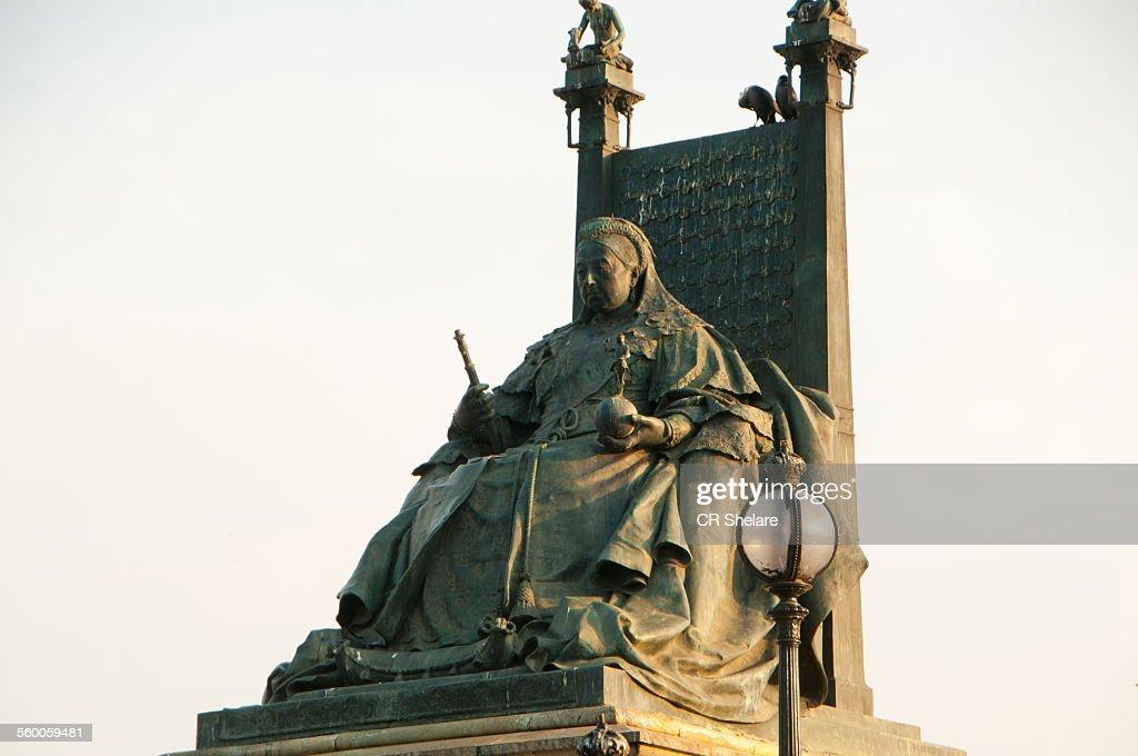 Statue of Queen Victoria,Victoria Memorial kolkata : Foto de stock