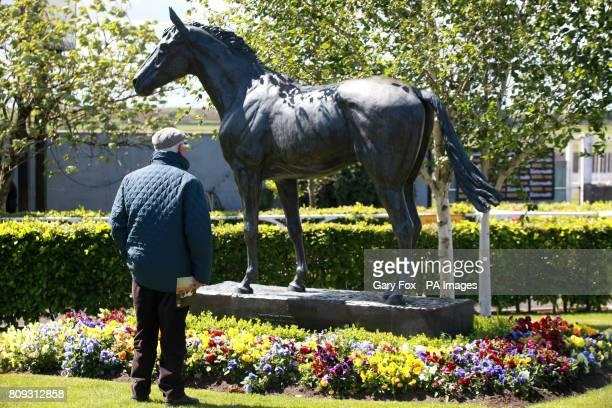 Statue of race horse Nijinsky at Curragh Racecourse