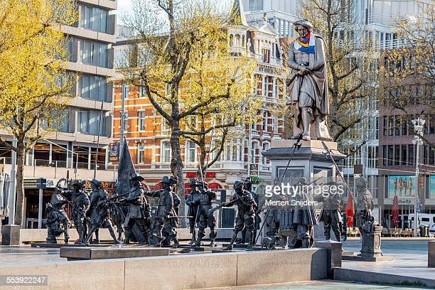 Statue of Rembrandt's night watch on square