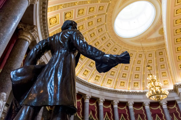 Statue of Reverend Jason Lee in the National Statuary Hall of the US Capitol