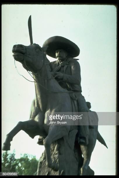 Statue of revolutionary hero Emiliano Zapata