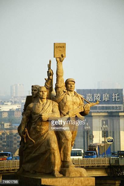 Statue of revolutionists, Revolutionary Statue, Nanjing Yangtze River Bridge, Nanjing, Jiangsu Province, China
