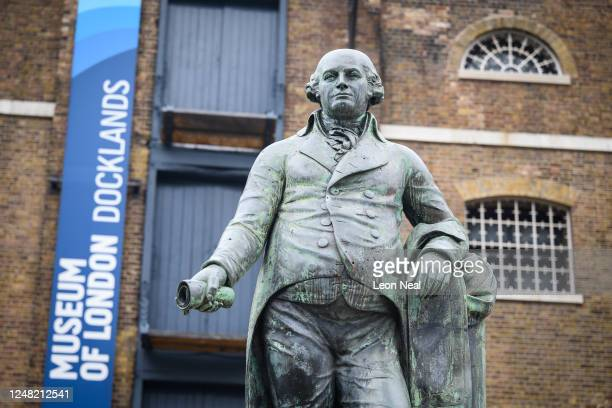 A statue of Robert Milligan is seen outside the Museum of London Docklands on June 08 2020 in London England Robert Milligan was a noted West Indian...