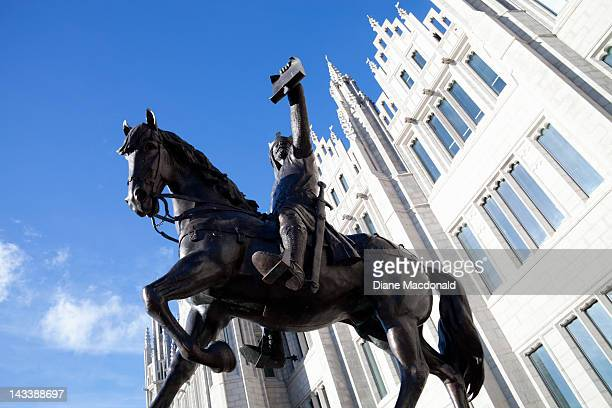 Statue of  Robert the Bruce,  Aberdeen, Scotland