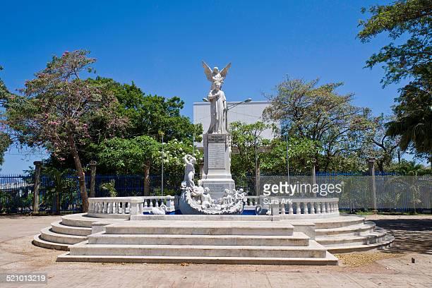 Statue of Ruben Dario in Managua Nicaragua taken on 3/23/2014