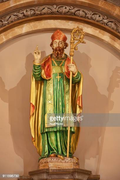 Statue of Saint Patrick in the Saint Patrick's Church in Toronto Ontario Canada on 27 January 2018