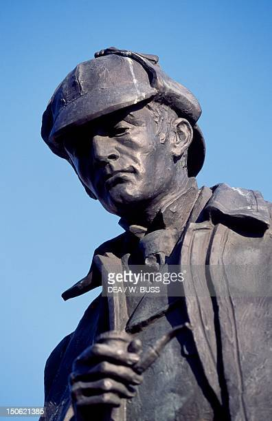 Statue of Sherlock Holmes by Gerald Ogilvie Laing Picardy Place Edinburgh Scotland 20th century