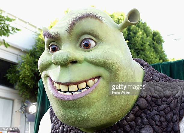 "Statue of Shrek at the Los Angeles premiere of the Dreamworks Pictures' film ""Shrek 2"" at the Mann Village Theatre May 8, 2004 in Westwood,..."