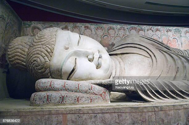 Statue of Sleeping Buddha in Mogao Caves