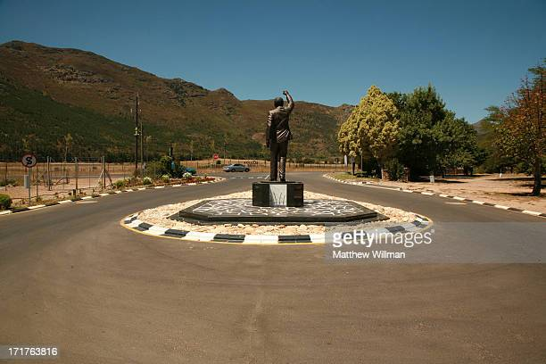 A statue of South African statesman Nelson Mandela outside the entrance to Victor Verster Prison Cape Town South Africa 19th May 2013 Mandela was...