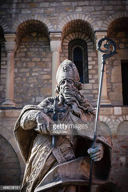 statue of st. boniface in mainz, germany - ogphoto stock photos and pictures