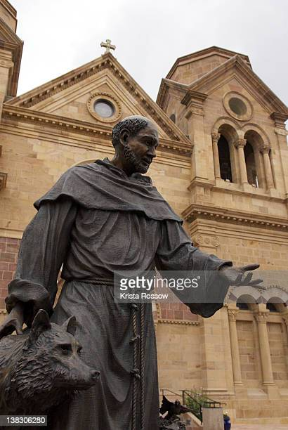santa fe, st. francis cathedral basilica, new mexico, united states. - st. francis of assisi stock photos and pictures