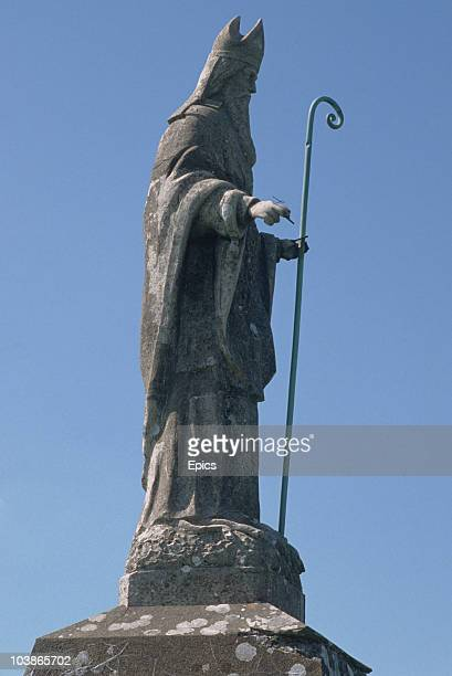 A statue of St Patrick in the town of Granard County Longford Ireland circa 1995
