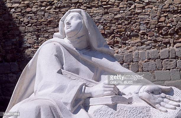 Statue of St Teresa Avila Castile and Leon Detail Spain