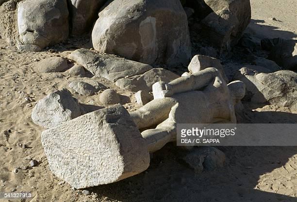 Statue of Taharqa black pharaoh Tombos near Kerma Egyptian civilisation XXV Dynasty Sudan 8th7th century BC