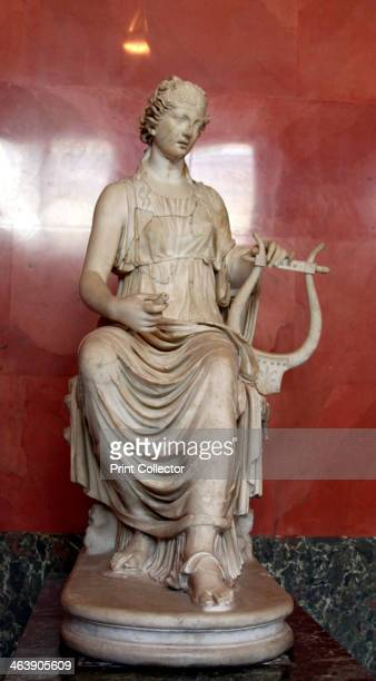 Statue of Terpsichore Muse of Dances Roman after a Greek model of 3rd2nd century BC Found in the collection of The Hermitage St Petersburg