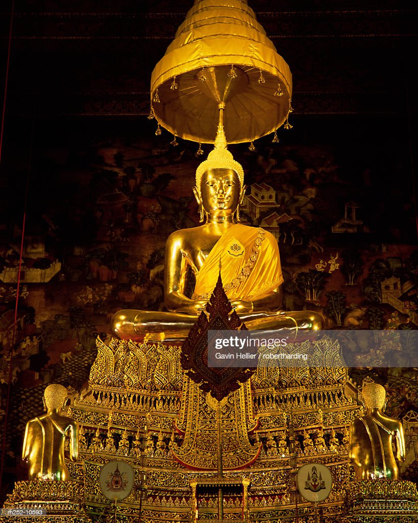 Statue of the Buddha, Wat Pho (Wat Po) (Wat Phra Chetuphon), Bangkok, Thailand, Southeast Asia, Asia : Stock Photo