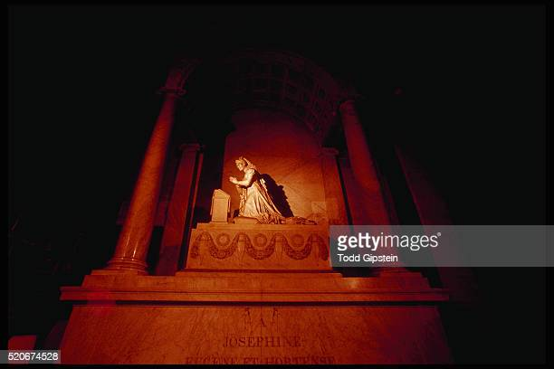 statue of the empress josephine by pierre cartellier at the tomb of empress josephine - gipstein stock pictures, royalty-free photos & images