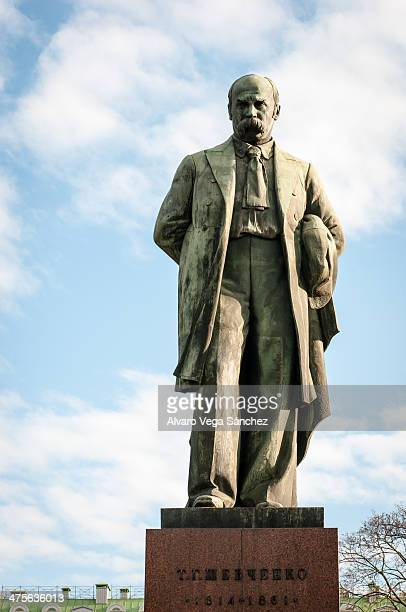 CONTENT] Statue of the famous writer Taras Shevchenko the most important writer in Ukrainian Language
