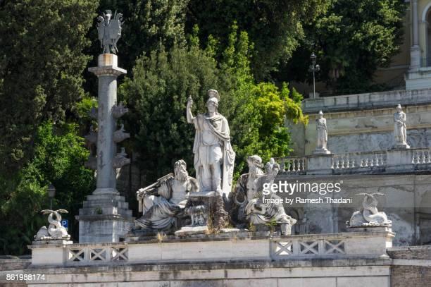 Statue of the Fontana della Dea di Roma