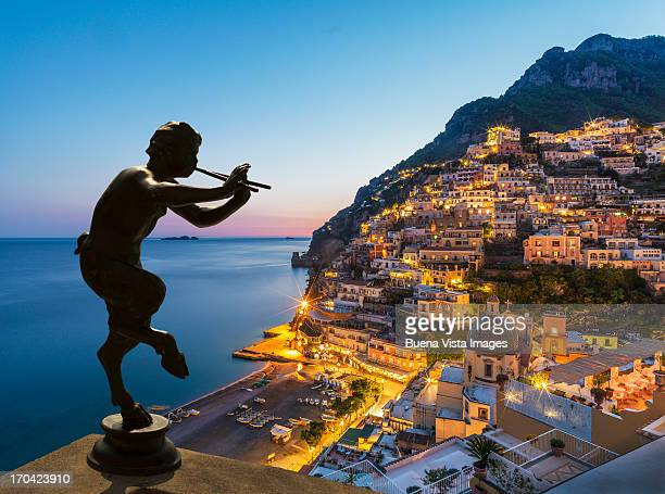 Statue of the God Pan over Positano.