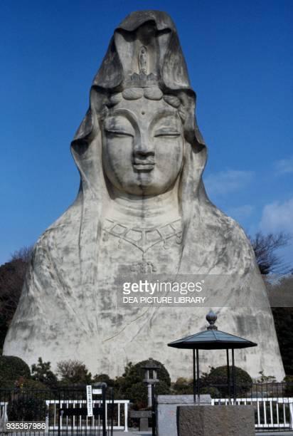 Statue of the goddess Kannon 25 metres tall reinforced concrete Ofuna Kannon Buddhist Temple Kamakura Kanagawa Prefecture Japan