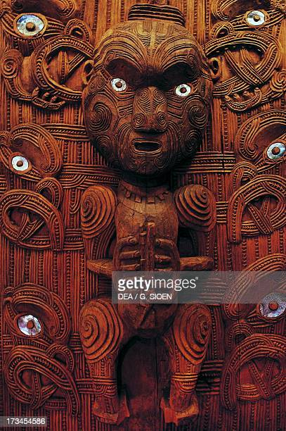 Statue of the Maori Chief Tamati Waaka Nene Russell Bay of Islands New Zealand
