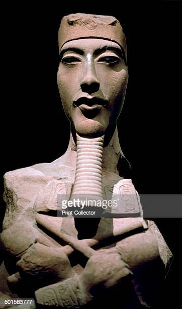 Statue of the Pharaoh Akhenaten from Karnak in Egypt from the Louvre's collection 14th century BC