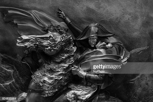 A statue of the quotNapoleon Bonapartequot in Jakarta Indonesia on April 10 2015 The 17th Jakarta International Handicraft Trade Fair held on April 8...