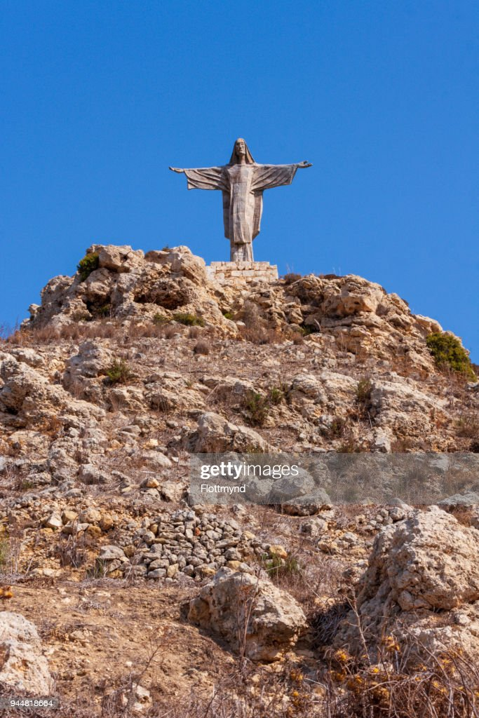 Statue of the Risen Christ in Gozo, Malta : Stock Photo