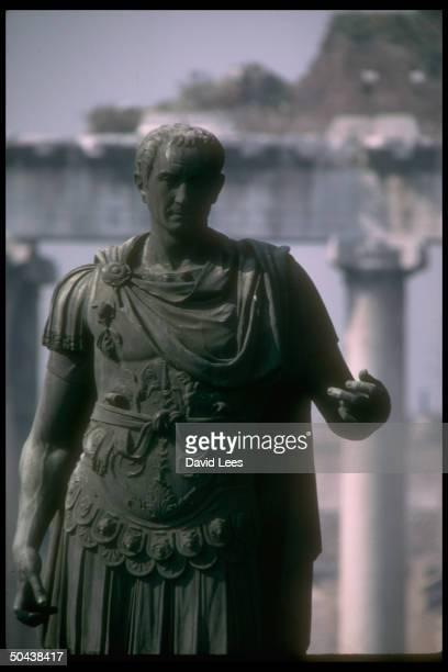 Statue of the Roman emperor Julius Caesar in the Forum