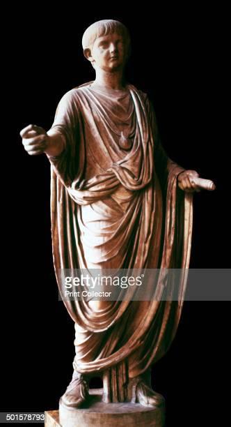 Statue of the Roman emperor Nero wearing a toga 1st century