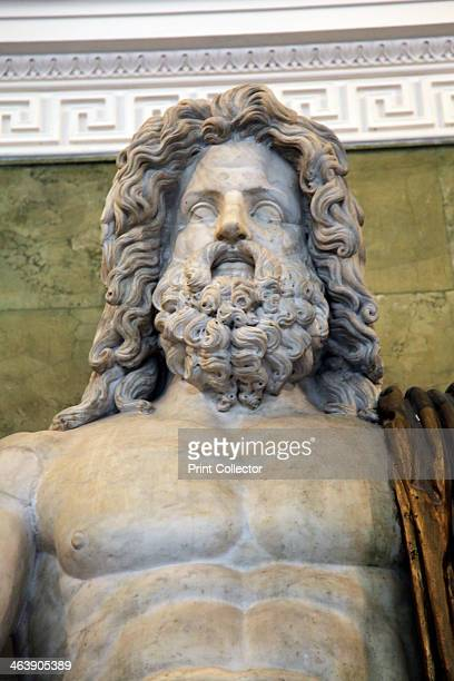 Statue of the Roman God Jupiter late 1st century Jupiter was the equivalent of the Greek God Zeus in the Roman pantheon Found in the collection of...