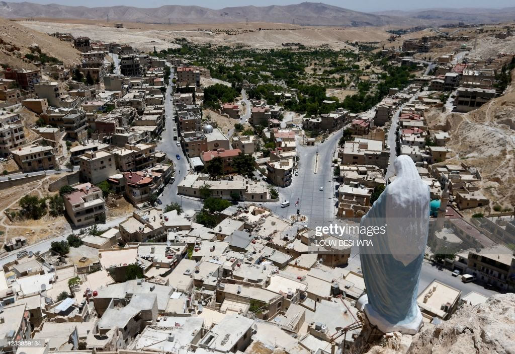 TOPSHOT-SYRIA-CONFLICT-CHRISTIANITY : Nieuwsfoto's
