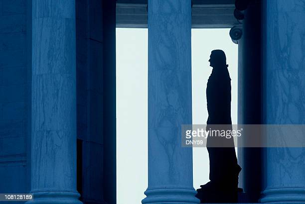 statue of thomas jefferson memorial - monument stock pictures, royalty-free photos & images