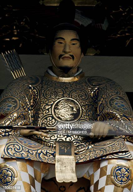 Statue of Tokugawa Ieyasu founder of the shogun dynasty of the same name from the ToshoGu Temple Nikko Japan