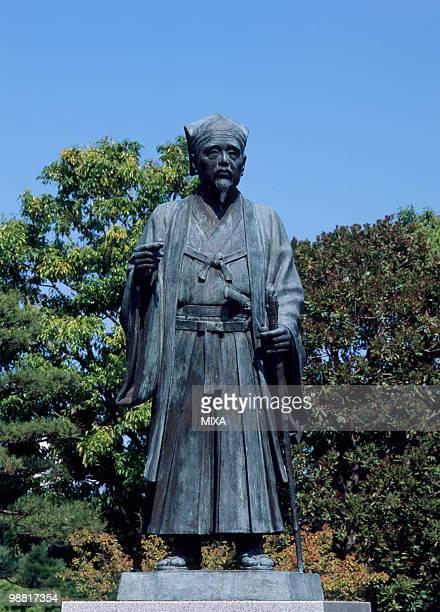 statue of tokugawa mitsukuni, mito, ibaraki, japan - 茨城県 ストックフォトと画像